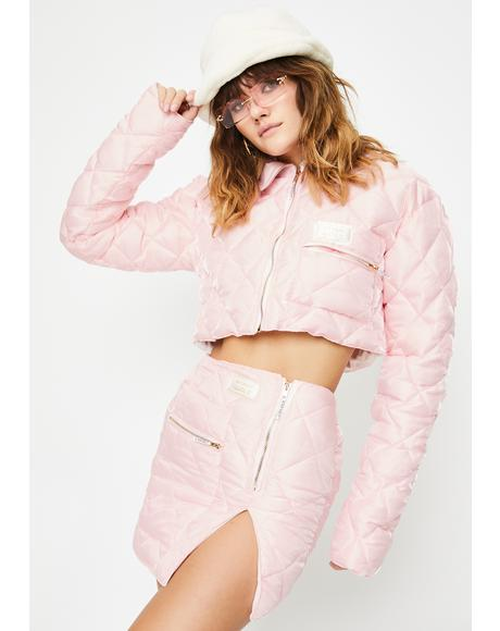 Quilted Organza Puffer Jacket
