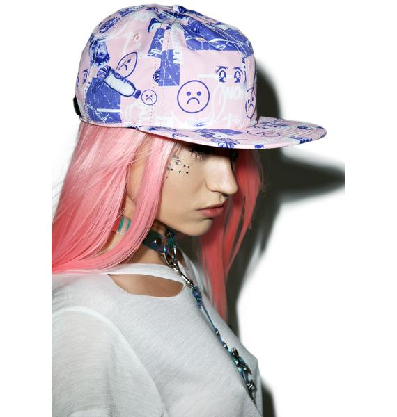 CRSHR Sad Face Cyber Punk Hat