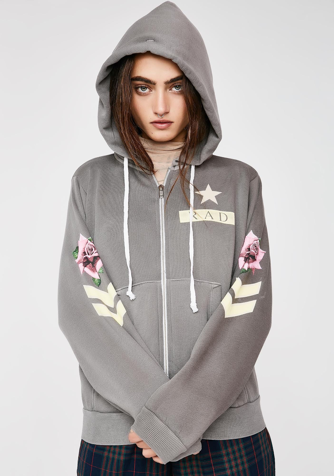 Wildfox Couture Rad Regan Zip Hoodie