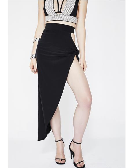 Can't Keep A Secret Asymmetrical Skirt
