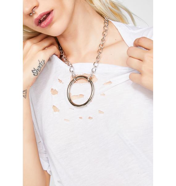Shop Biohazard Large Chain O-Ring Choker