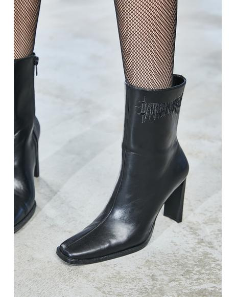 Bassline Square Toe Ankle Boots