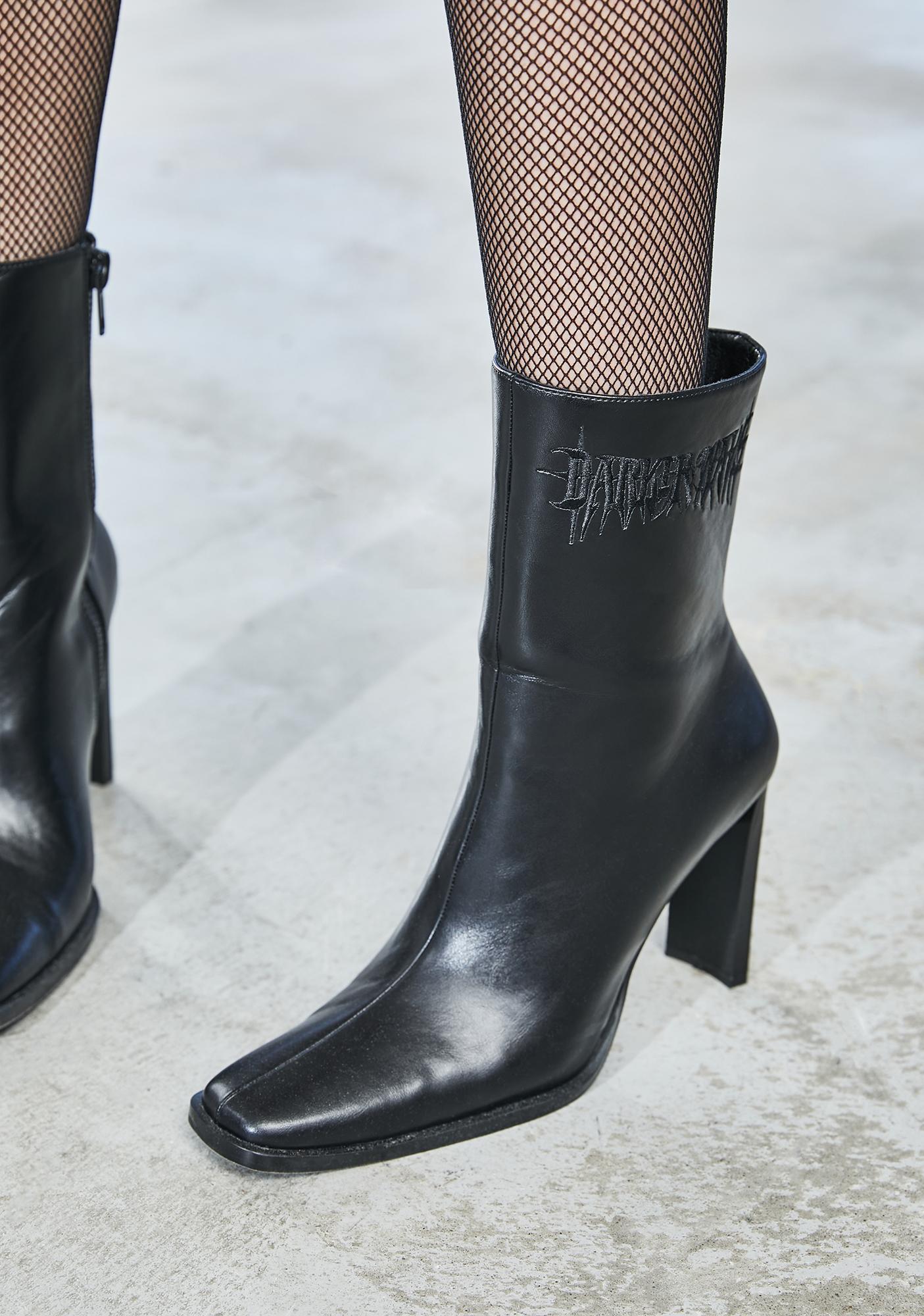 DARKER WAVS Bassline Square Toe Ankle Boots