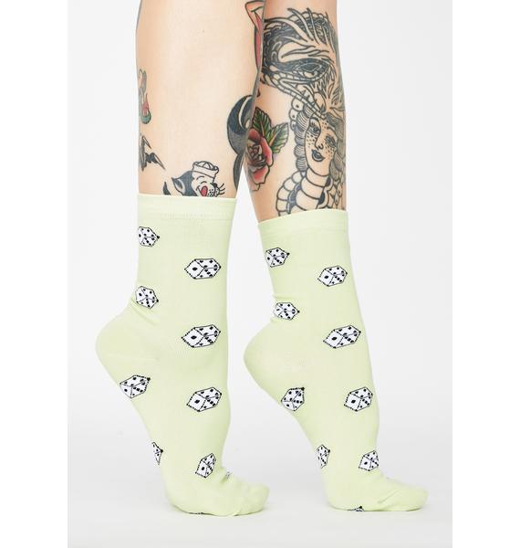 Double 7 Beginner's Luck Dice Socks