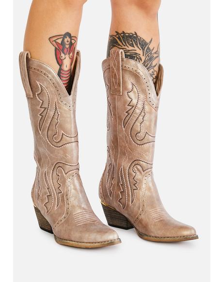 Champagne Westlake Cowboy Boots