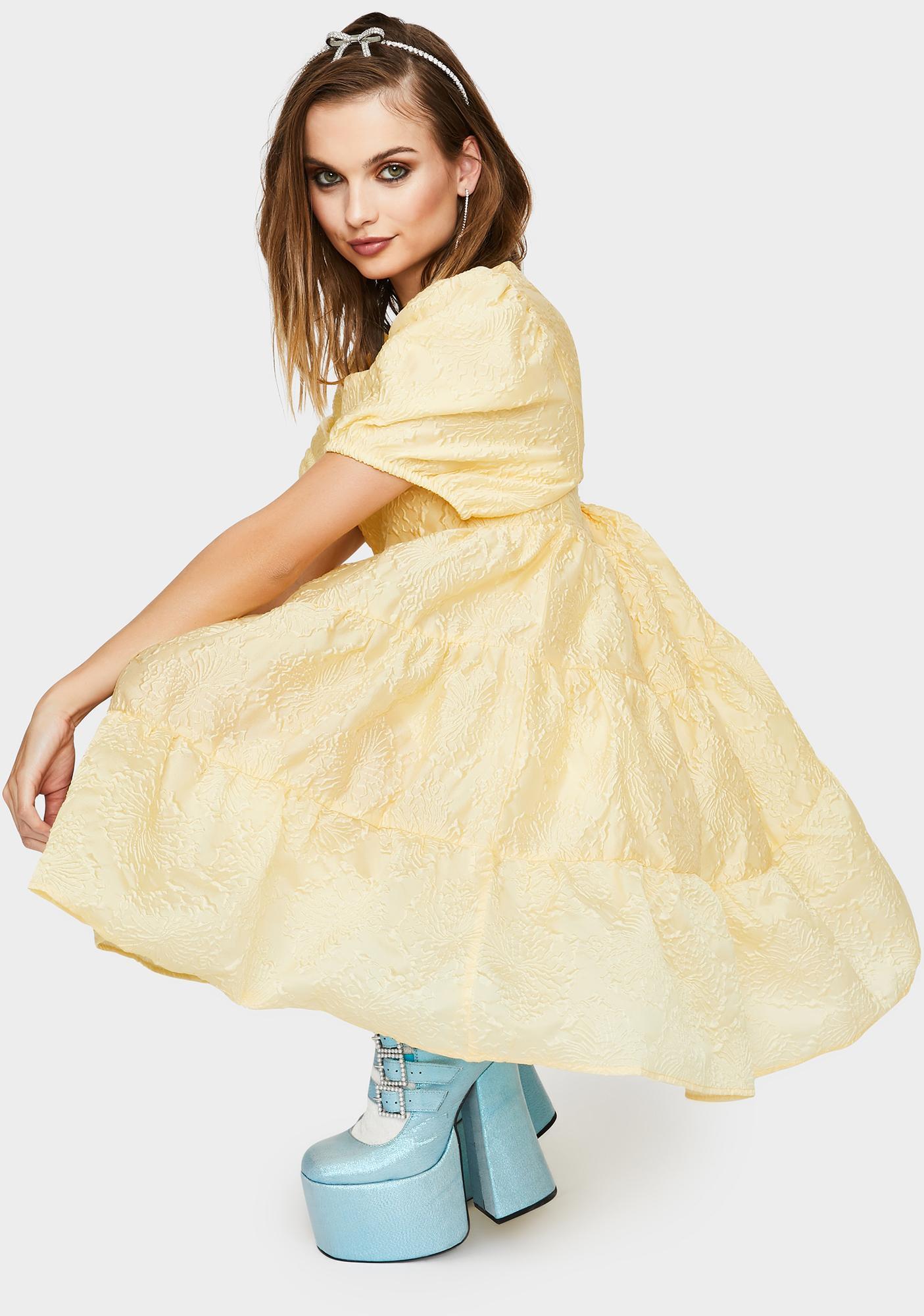 Sister Jane Buttercup Puff Sleeve Mini Dress
