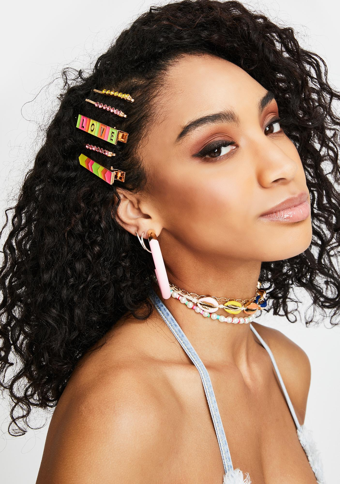 Say It To My Face Hair Clip Set