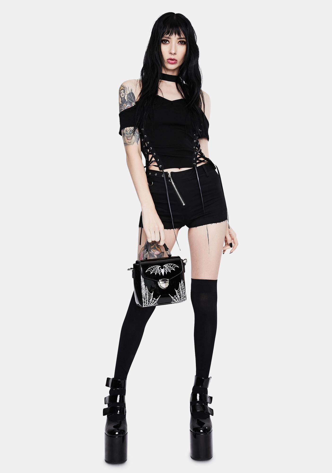 Dark In Love Punk Halter Corset Top