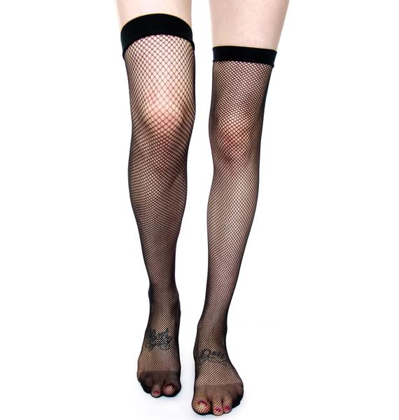 Lip Service Fishnet Thigh Highs Tights
