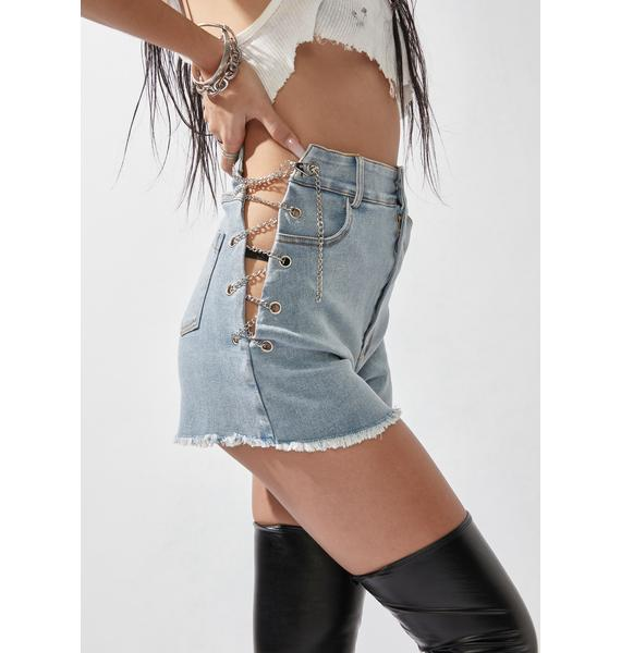 Rave Rework Denim Shorts