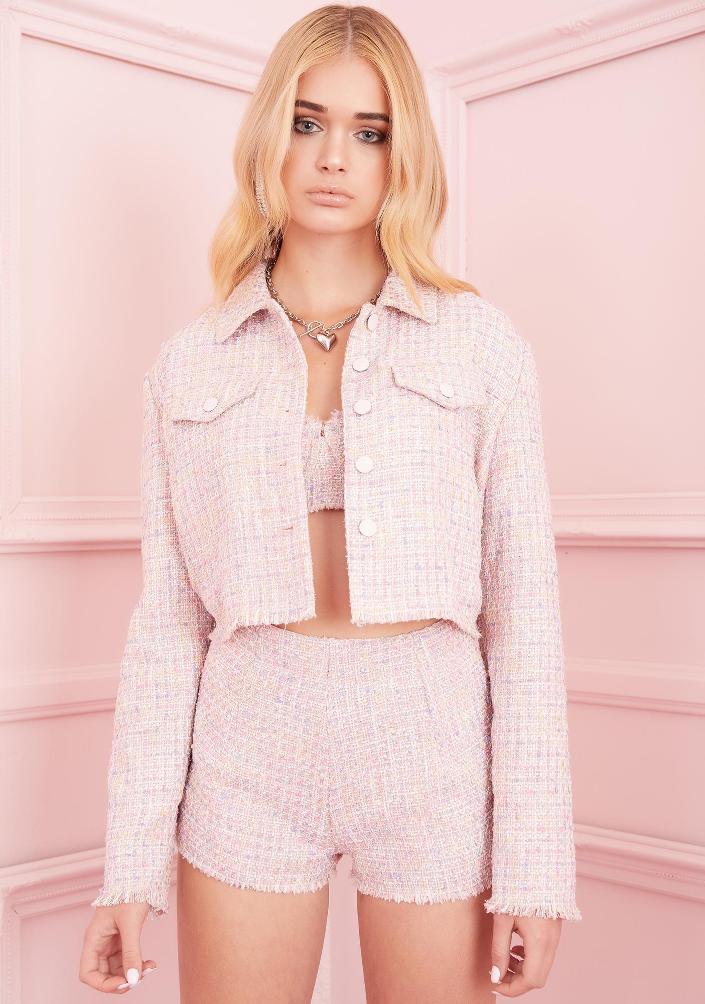 Sugar Thrillz Posh Gossip Tweed Jacket