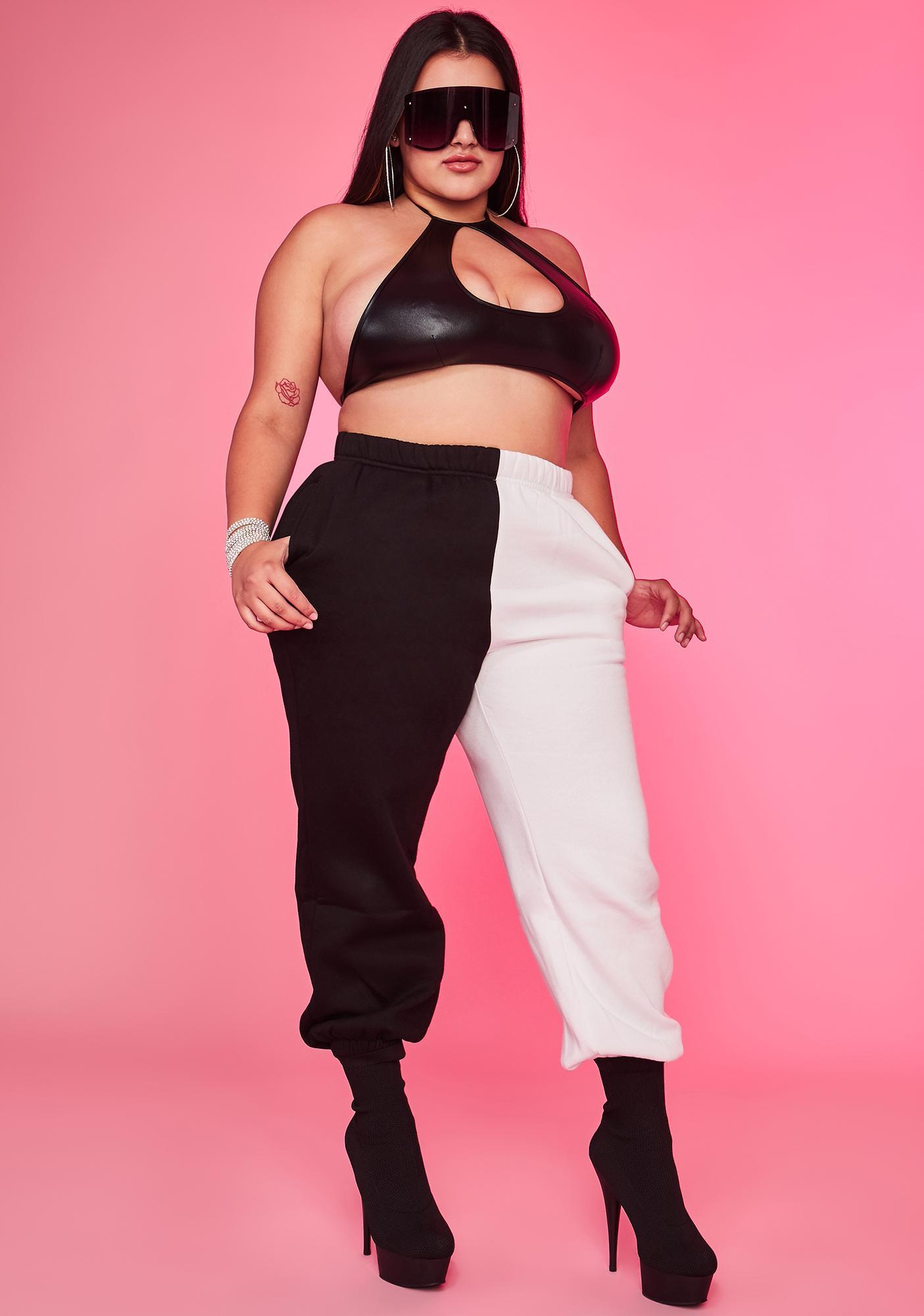 Domino Luxe Slacker Squad Two Tone Sweatpants