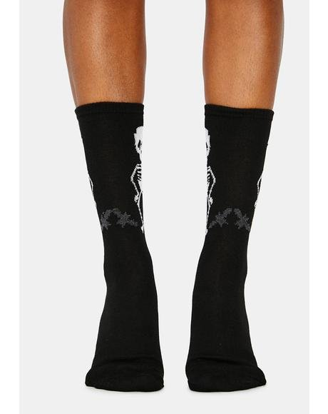 Glow In The Dark Skeleton Crew Socks