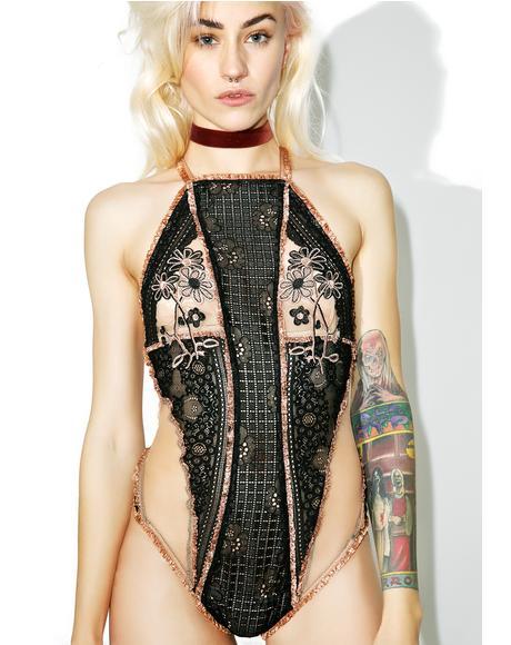 Heliotrope Applique Bodysuit
