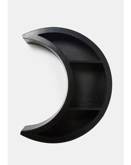 Dark Side Crescent Moon Shelf