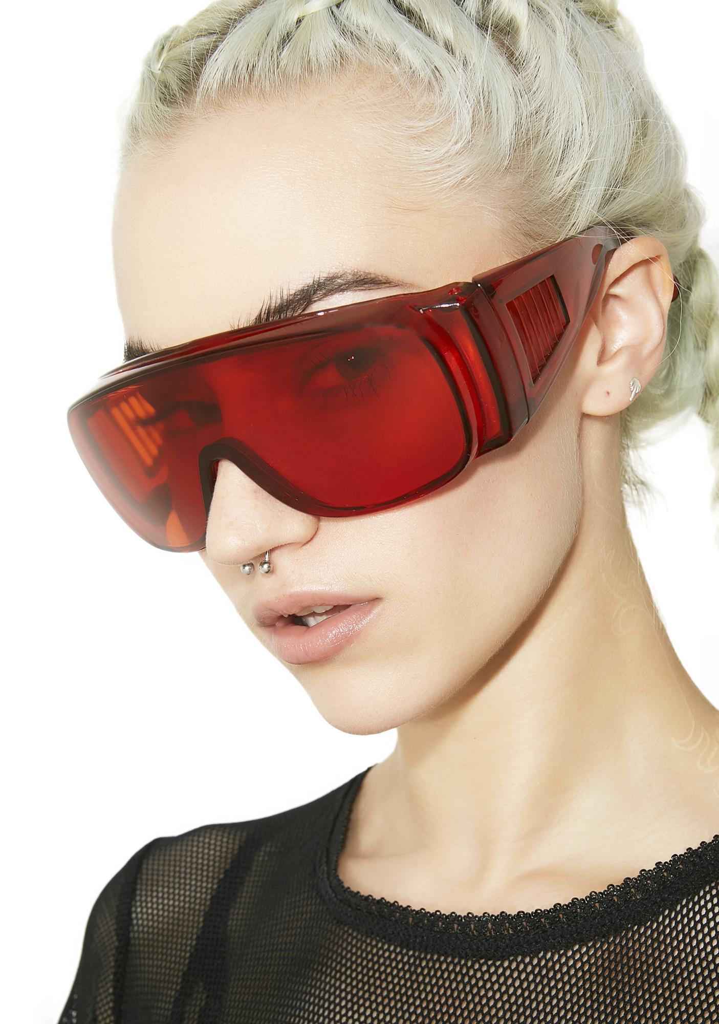 Burning Ember Shield Sunglasses
