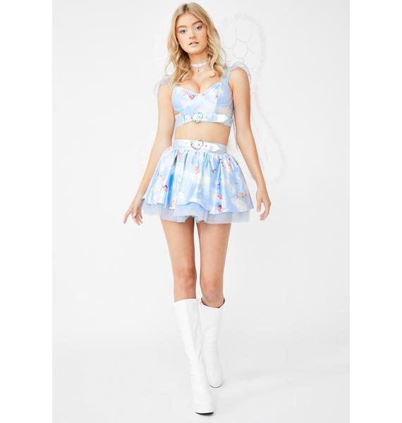 Dolls Kill Heavenly Love Cherub Costume Set