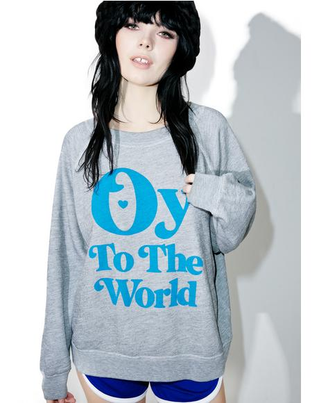 Oy To The World Sommer's Sweater