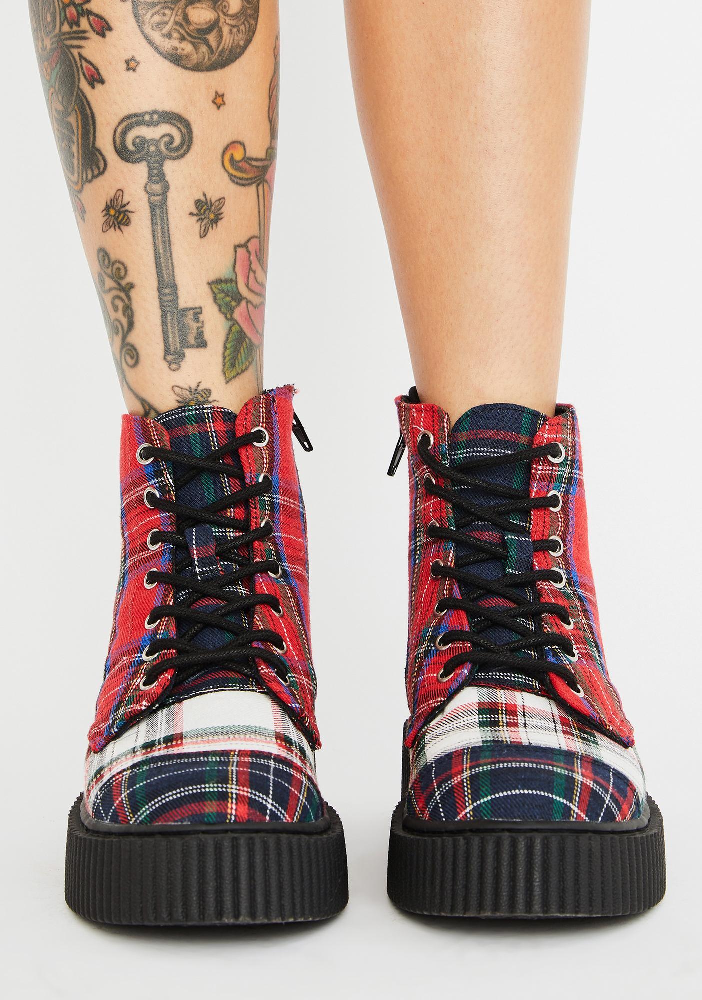 T.U.K. Mixed Plaid Casbah Boots