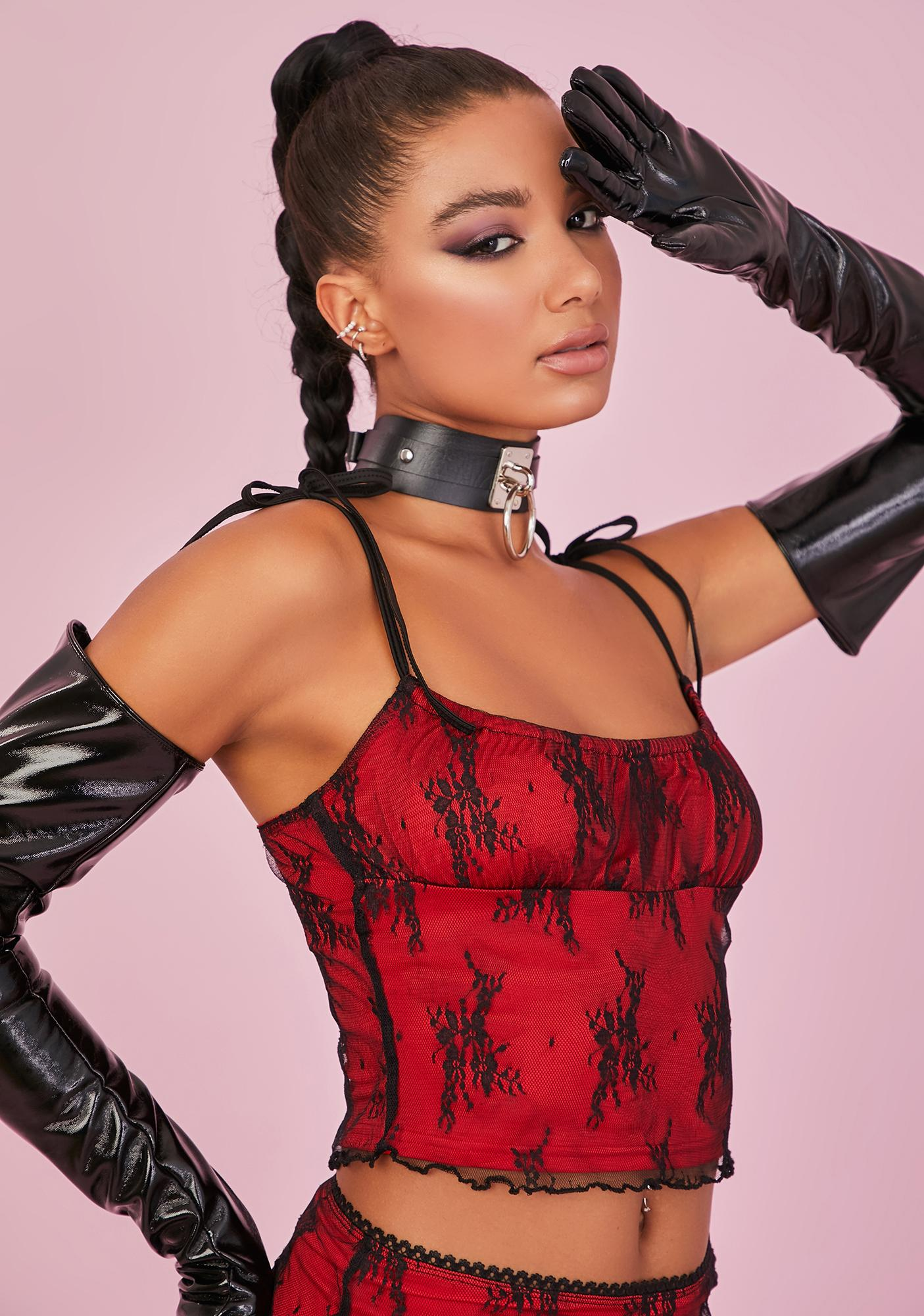 Sugar Thrillz Lover Set The Mood Lace Top