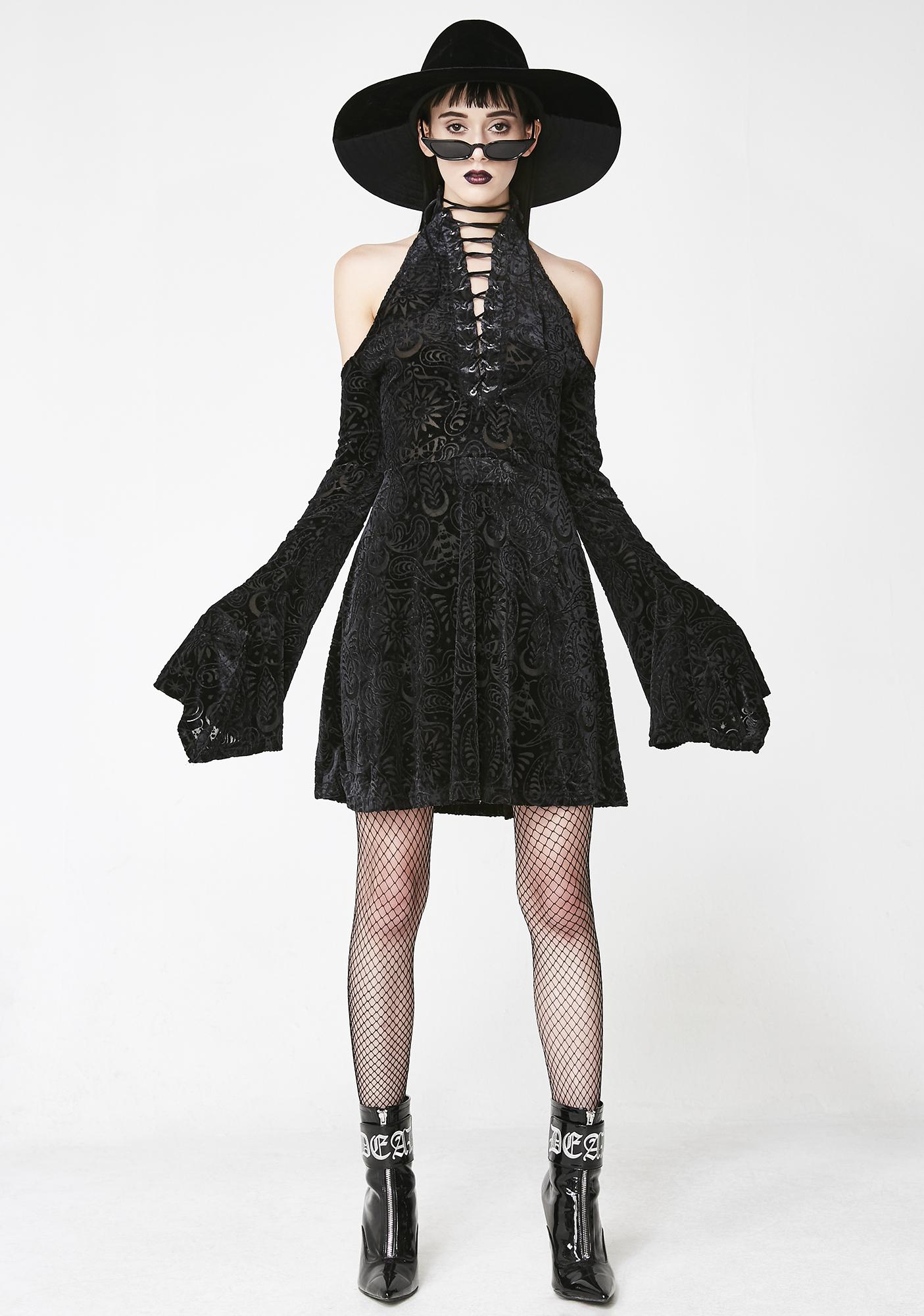 Killstar Vela Burnout Dress