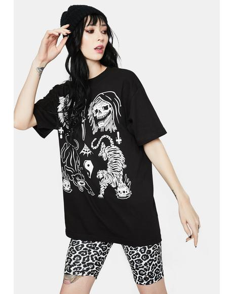Cat Flash Graphic Tee