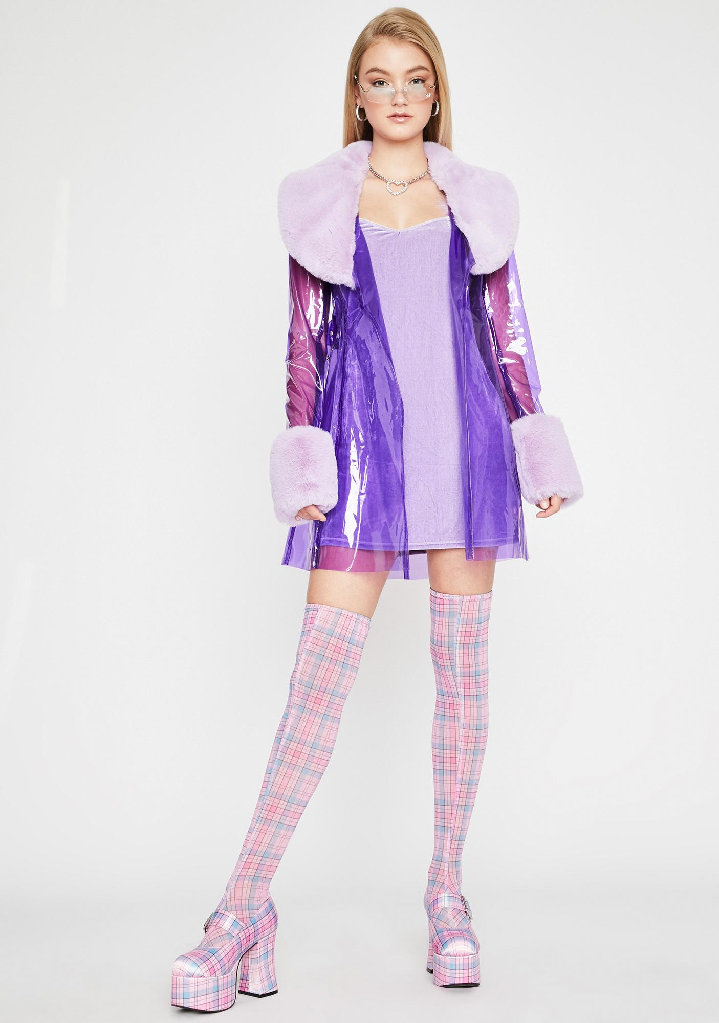 Sugar Thrillz Primadonna Girl Clear Trench Coat