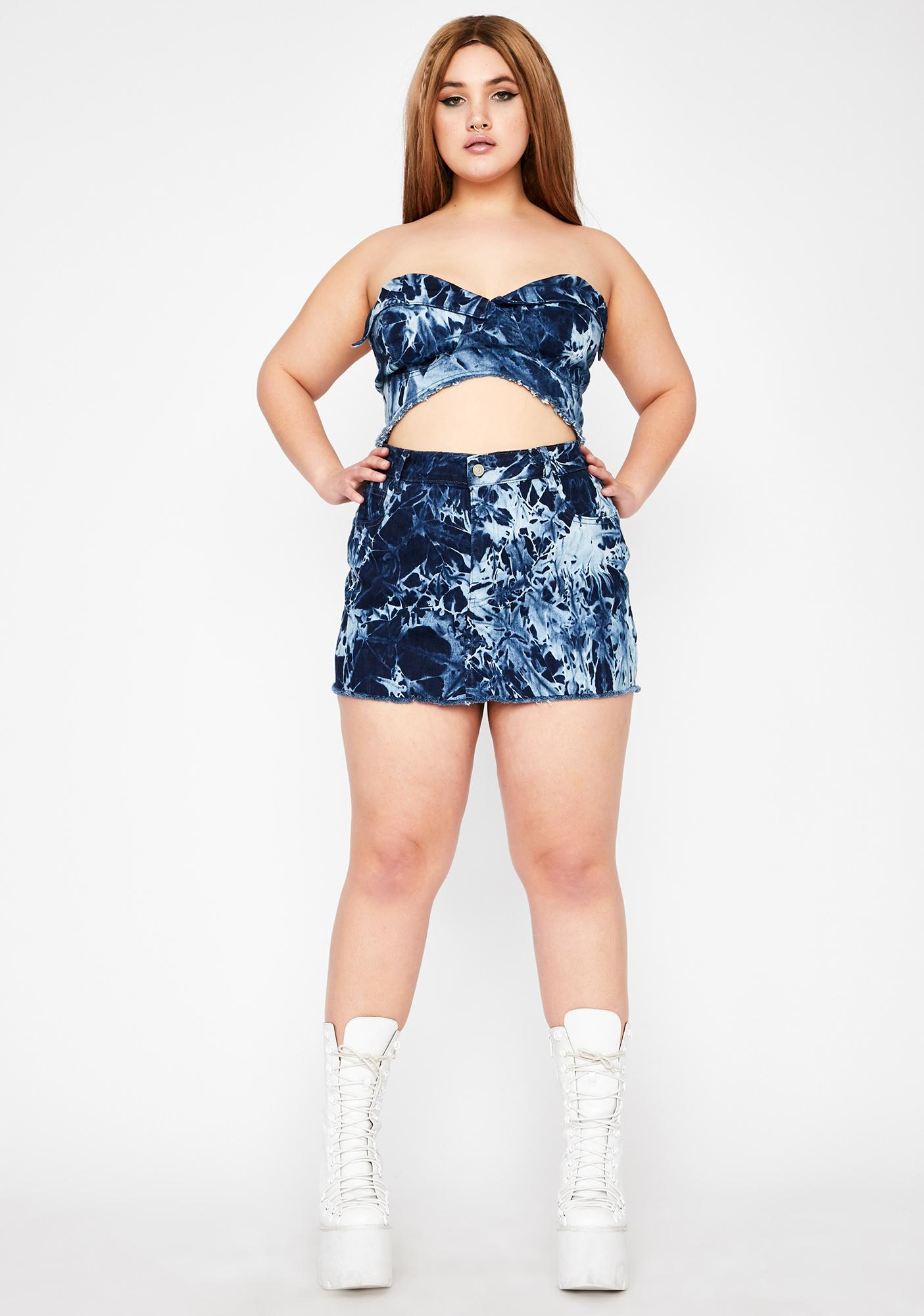 Club Exx Her Moonshine Magick Denim Skirt