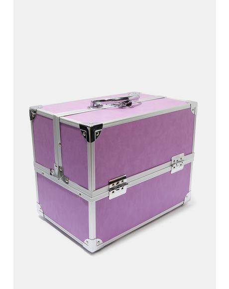 Medium Lavender Train Case