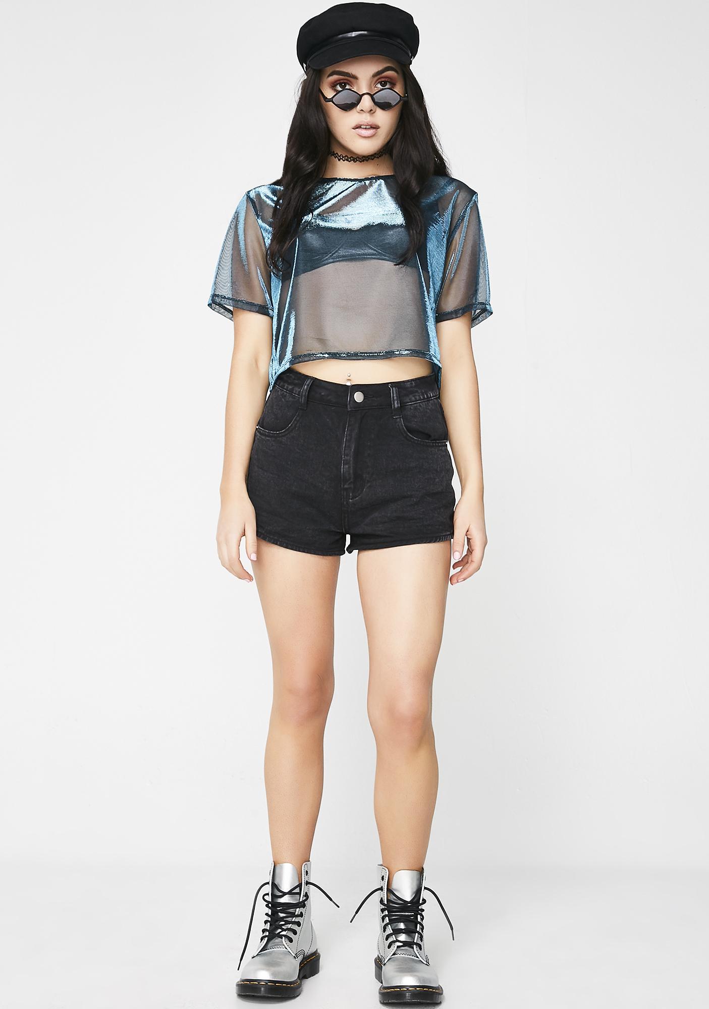 Steal The Spotlight Denim Shorts