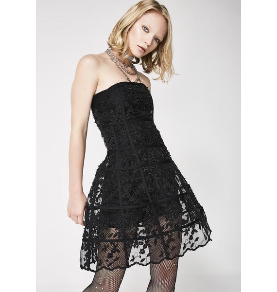 Kiki Riki Dark Revenge Floral Cage Dress