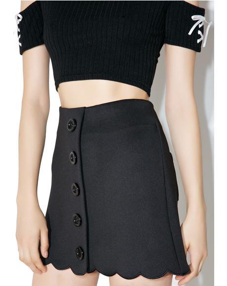 Scalloped Trapezoid Skirt