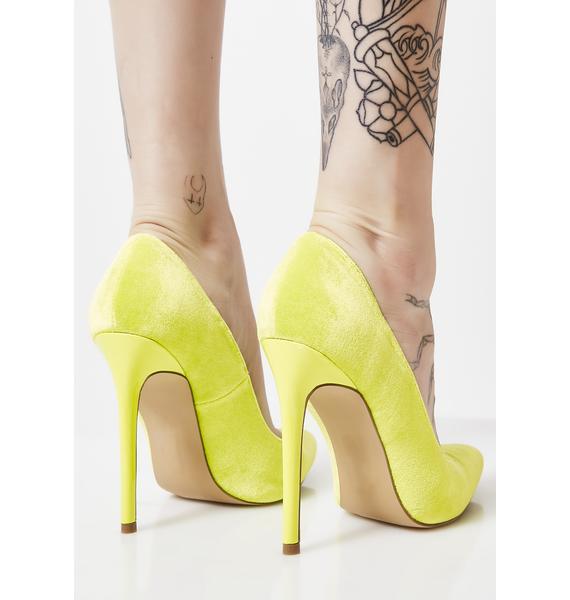 Bodak I Know You Felt It Velvet Heels