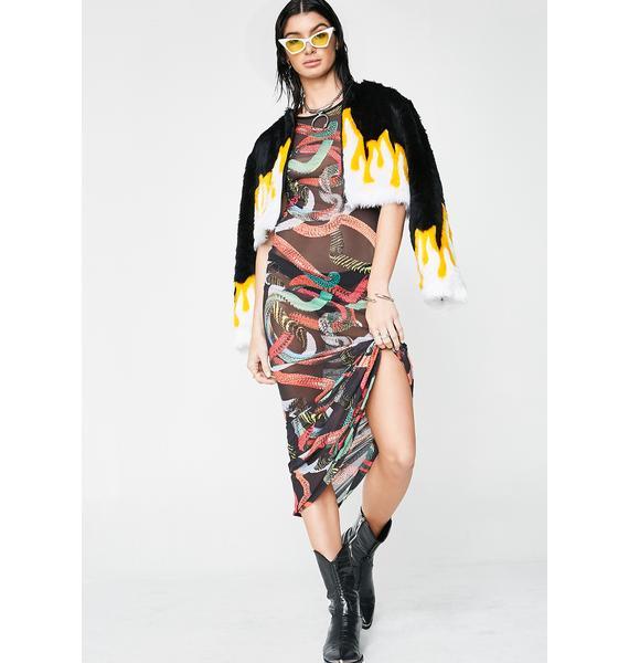 Kiki Riki Viper Vixen Sheer Maxi Dress