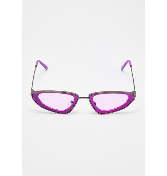 Grape Classy But Sassy Tiny Sunglasses