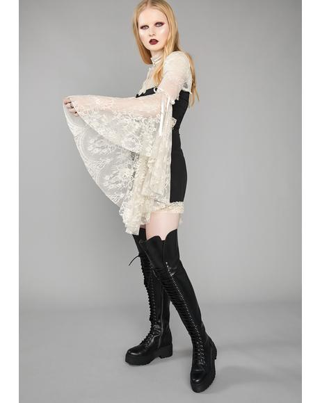 Memento Mori Thigh High Boots