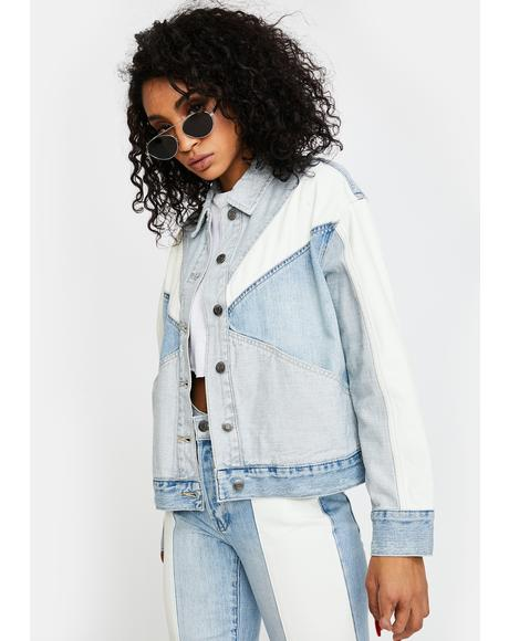 Willow Colorblock Boxy Denim Jacket