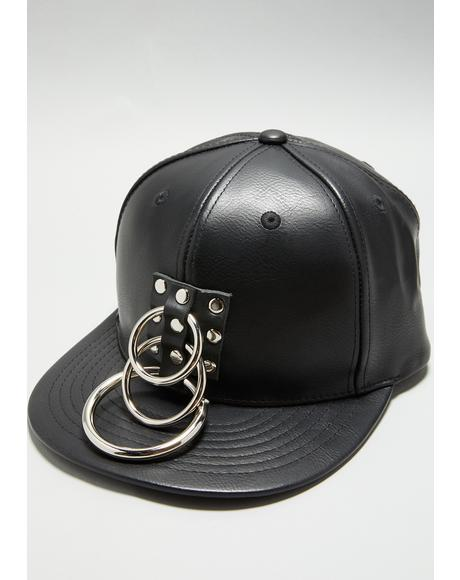 Vegan Leather O-Ring Baseball Hat