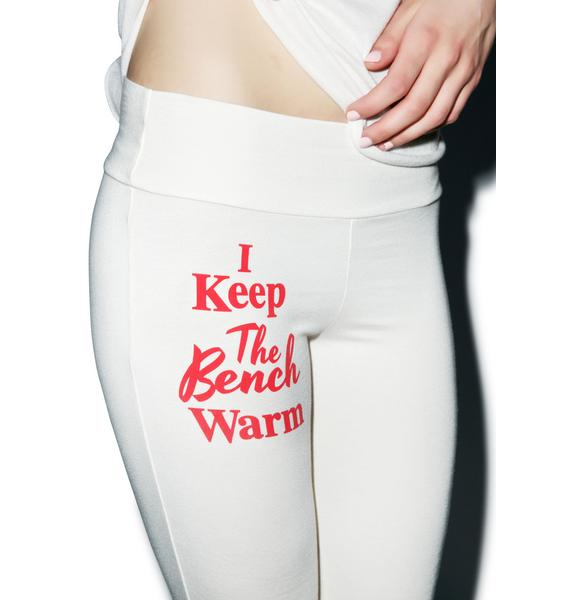Wildfox Couture Bench Warmer Perfect Yoga Pants