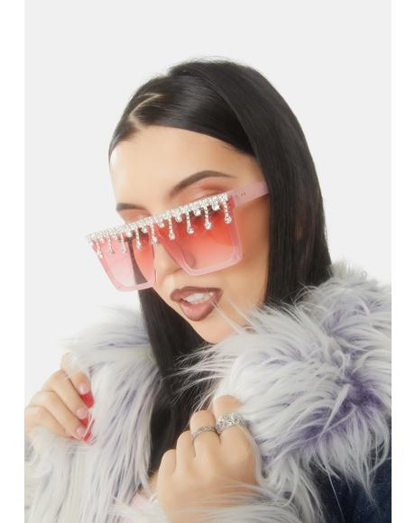 Designer Drip Rhinestone Sunglasses