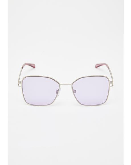 Sweet Talker Clear Sunglasses