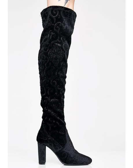 Midnight Dream World Thigh High Boots
