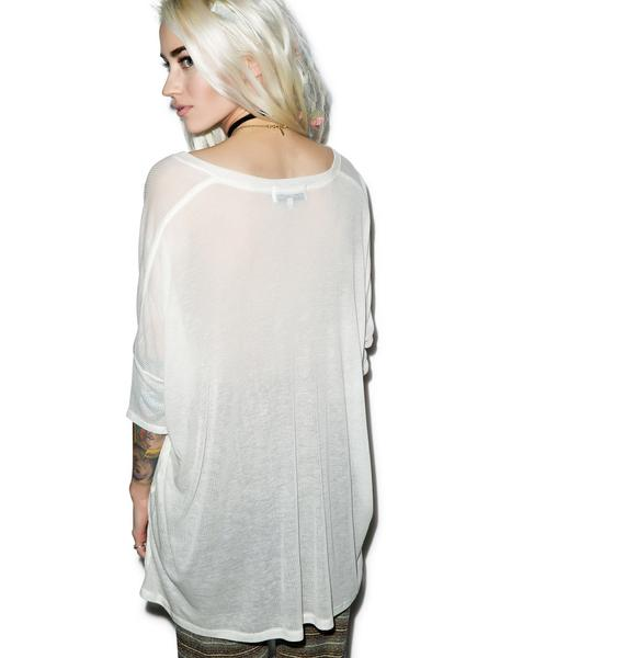 Wildfox Couture Happy Girl Sunday Morning V-Neck Tee