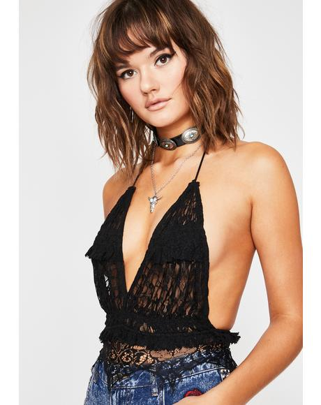 Sinful Time For Trouble Halter Top
