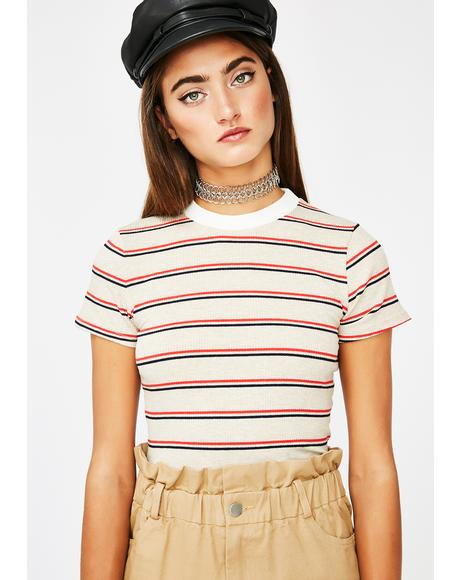 Sandy Get In Line Crop Top