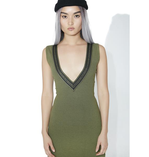 Diamond Supply 24 Karate Deep V Dress