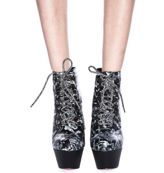 Iron Fist Don't Cross Me Platform Booties