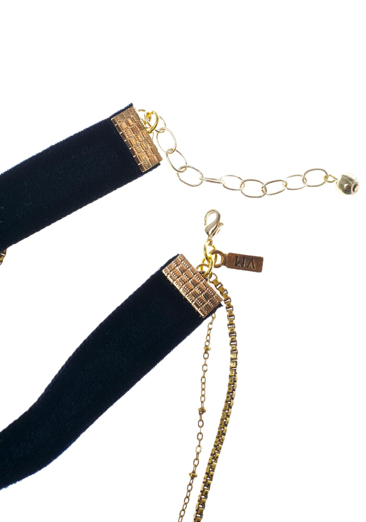 Vanessa Mooney The Chain & Cross Choker