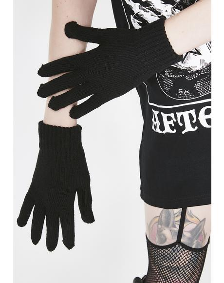 Don't Be Basic Knit Gloves