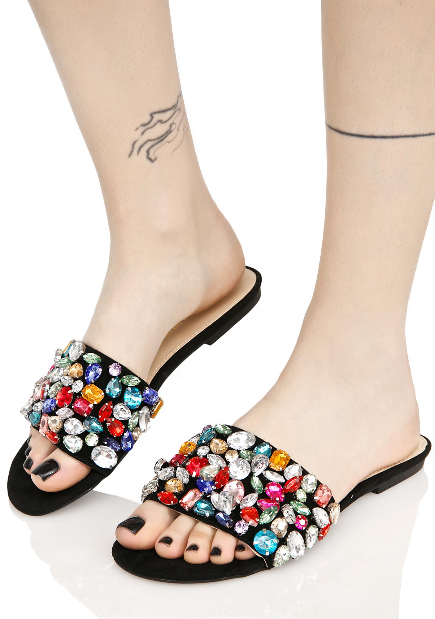 Lust For Life Nightfall Dazzle Jeweled Slides